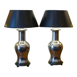 Exquisite Mirror Glaze Porcelain Vase Form Table Lamps
