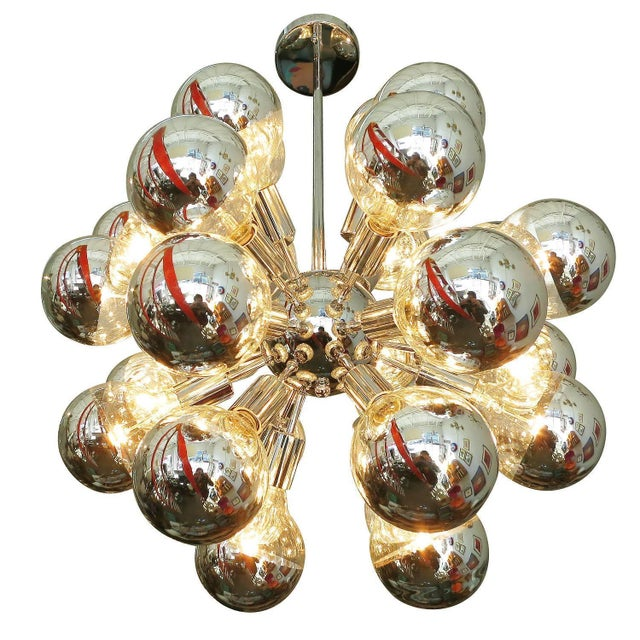 Mid-Century Chrome Sputnik Chandelier - Image 3 of 5