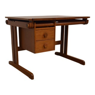 H. Sigh & Søns Danish Teak Drafting Table Desk
