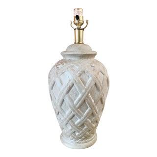 Bohemian Basket Weave Lamp