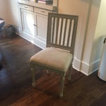 Image of Shabby Chic Gray Wood Dining Chairs - Set of 4