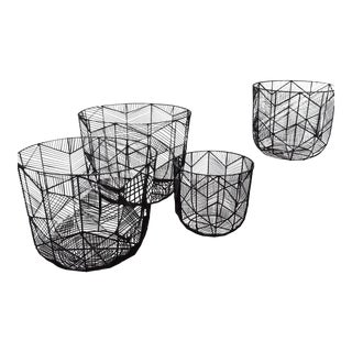 Graphic Wire Baskets - Set of 4