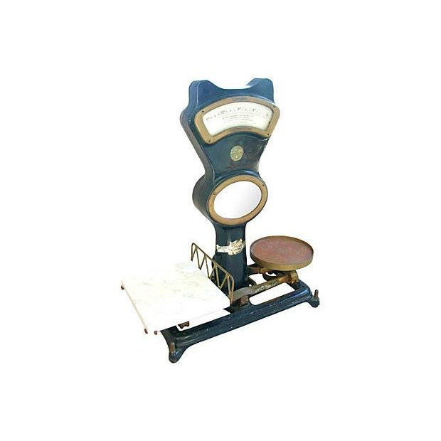 Antique Mercantile Balance Scale w/Marble Slab - Image 6 of 7