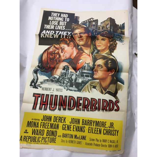 Image of 1952 Original Thunderbirds Movie Poster