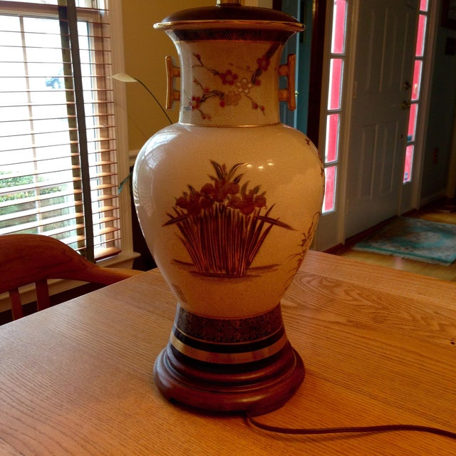 Image of Vintage Ceramic Asian Vintage Lamp