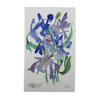 """Meadow Iris 1"" Original Watercolor"