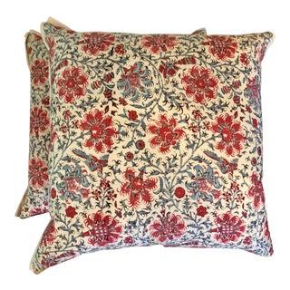 Ralph Lauren Floral Batik Pillows - A Pair