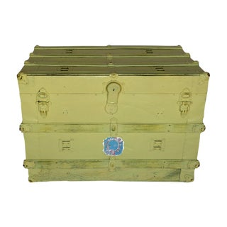 Yellow Shabby Chic Trunk