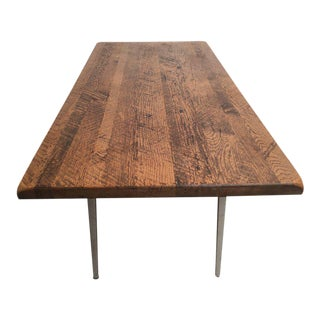 Friso Kramer 'reform' Table or Desk With Reclaimed Rustic Oak Top