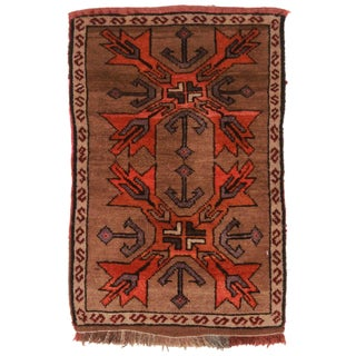 "Hand Knotted Wool Turkish Rug - 1' 10"" X 2'10''"