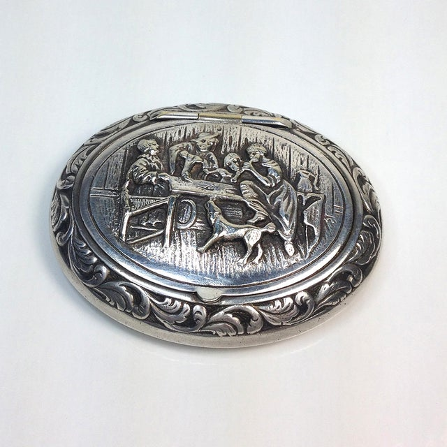 Engraved Silverplate Handheld Ashtray - Image 2 of 5