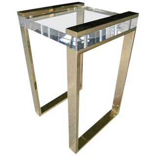 Charles Hollis Jones Brass Boxline Side Table