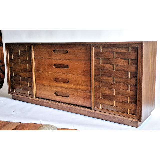 Harvey Probber Woven Front Credenza Sideboard - Image 10 of 10