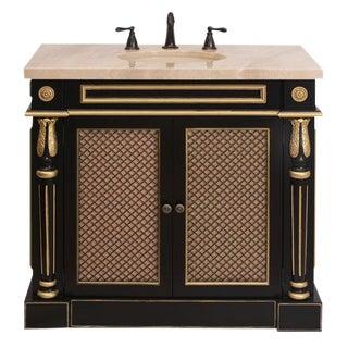 Classico Bath Vanity Black & Gold Cabinet