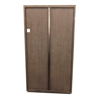 Restoration Hardware Grey Oak Double-Door Cabinet