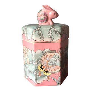 Butterfly and Rabbit Chinoserie Box