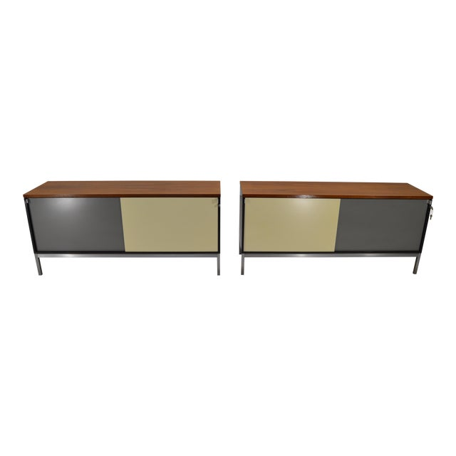 Image of Art Metal for Knoll Int. Mid-Century Office Cabinets - A Pair