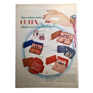 Mid-Century 1946 Cutex Ad