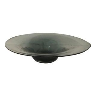 Asymmetrical Art Glass Bowl Handblown Centerpiece