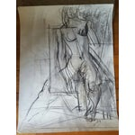 Image of Charcoal Abstract Female Nude Drawing