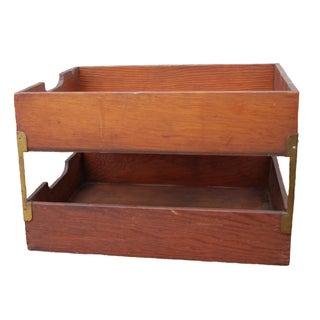 Antique 1930's Desk Accessory In/Out Box