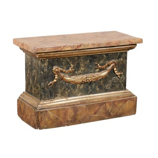 18th Century Italian Marbleized Pedestal