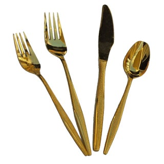 24 Ct. Gold Plated Flatware Service for 8 + Extras