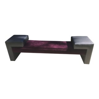 Custom Designed Purple Velvet Bench