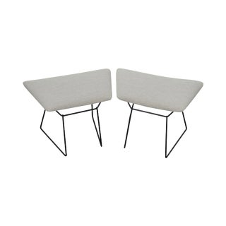 Knoll Harry Bertoia Pair of Bird Ottomans