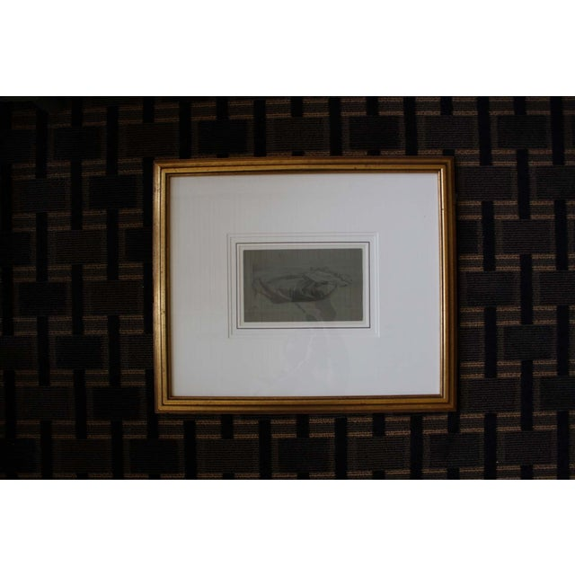 McGuire Signed Figural Sketch in Gold Frame - Image 2 of 4