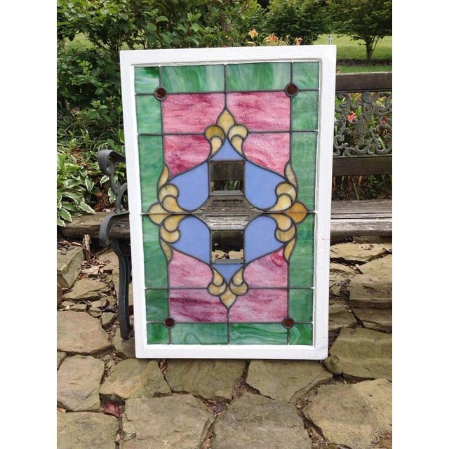 Antique Stained Glass Windows - Pair - Image 4 of 6