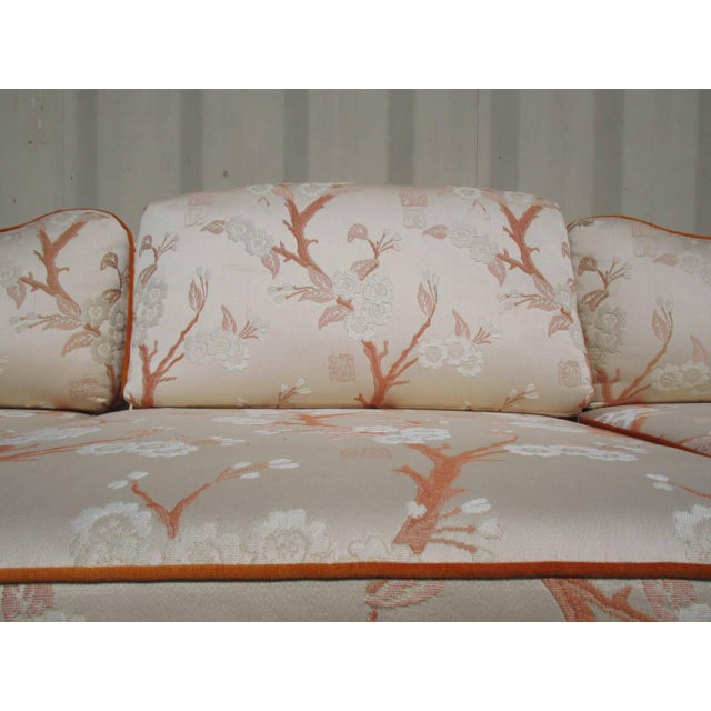Hollywood Regency Sofa with Pleated Arm Rests - Image 3 of 7