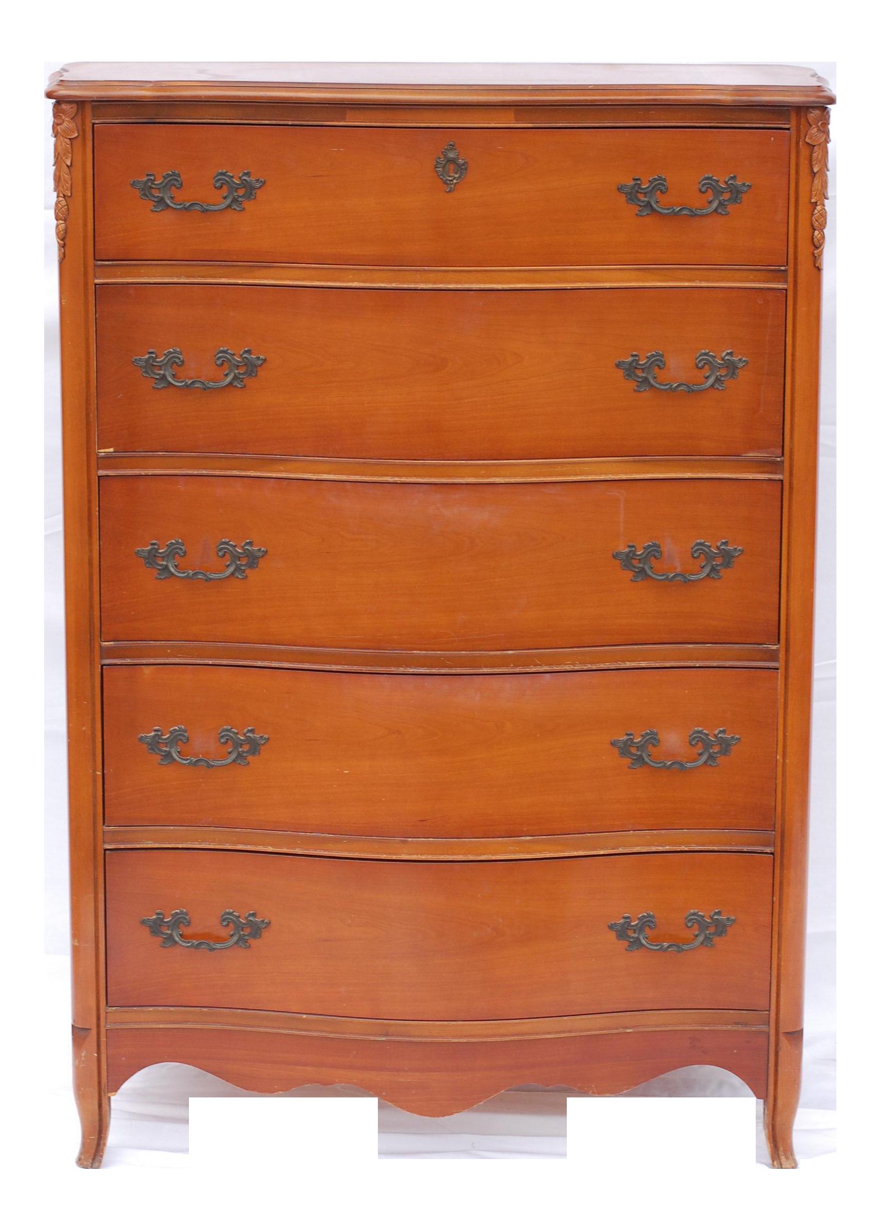 Bassett Furniture Antique French Provincial Dresser