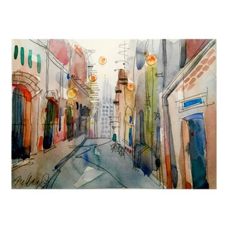 """Old World New World"" Watercolor Painting"
