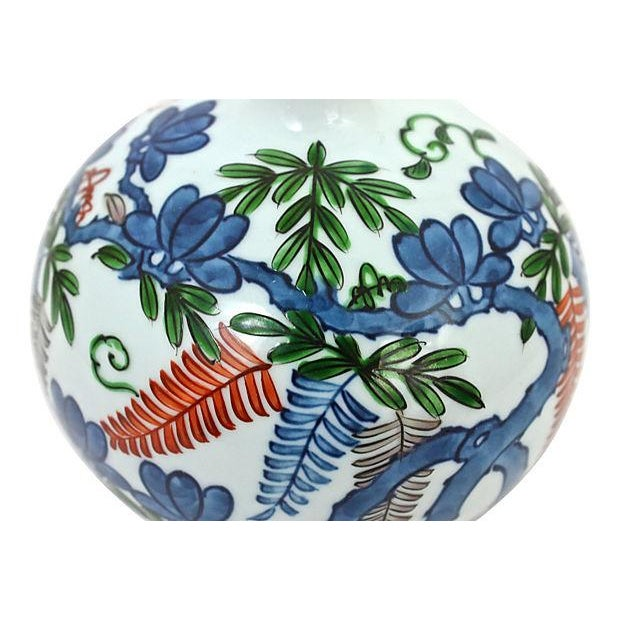 Asian Hand-Painted Orb Bud Vase - Image 6 of 7