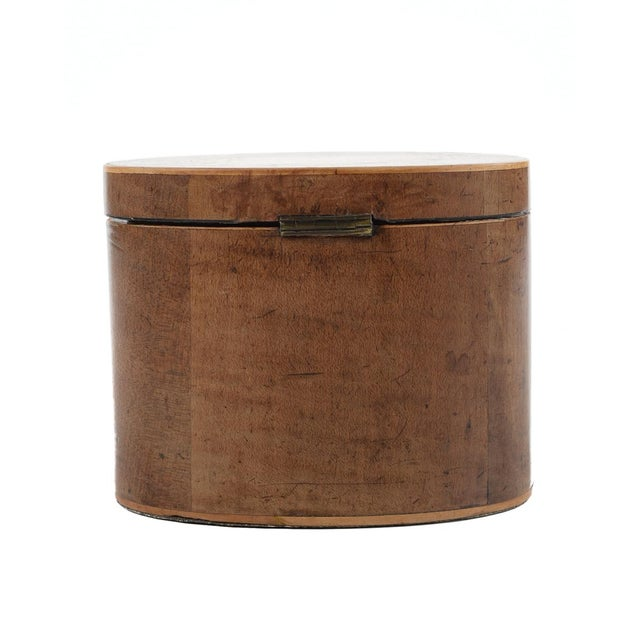 19th Century Oval Shaped Wood Box with Sea Shells - Image 7 of 9