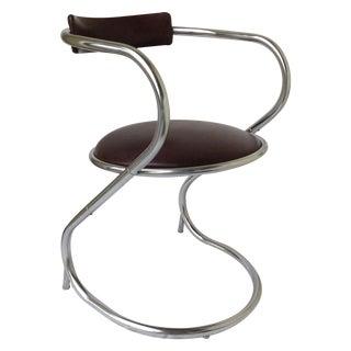 Mid-Century Chrome Cantilever Office Chair