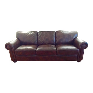 Basset Brown Leather Sofa