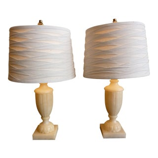 Sarried Alabaster Table Lamps - A Pair