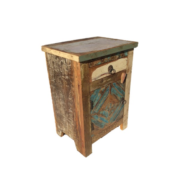 Reclaimed Wood Side Table/Small Cabinet - Image 4 of 5