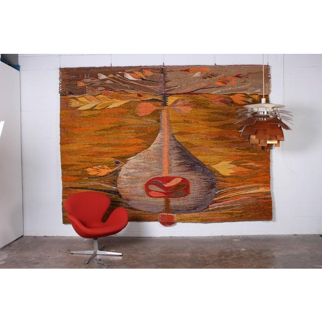 """Large Tapestry by Krystyna Wojtyna-Drouet Titled """"Fruit"""" - Image 2 of 10"""