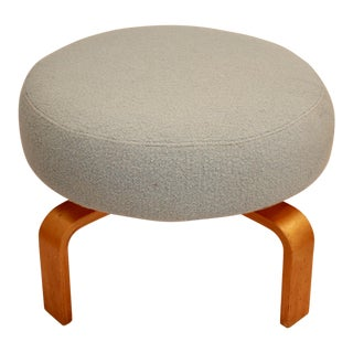 Rotating Swivel Bentwood Ottoman