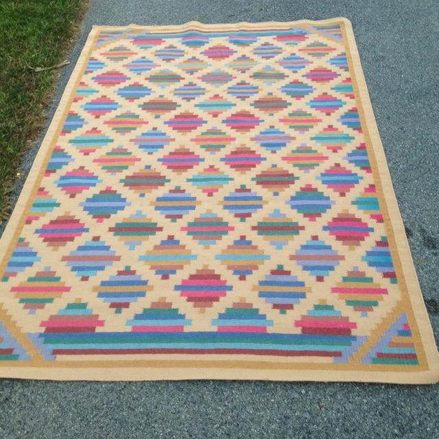 Image of Flat Woven Wool Kilim Rug- 6' x 9'