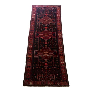 Antique Red Persian Wool Runner - 3′ × 10′