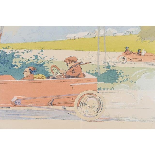 """1913 Original French Art Deco """"Dedalia Car Race"""" Poster - Image 6 of 8"""