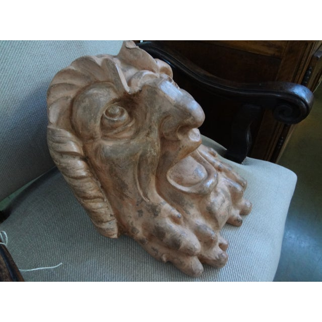 Antique French Baroque Terra Cotta Bust - Image 3 of 9