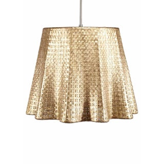 Selamat Designs Seline Metallic Drapery Pendant Light