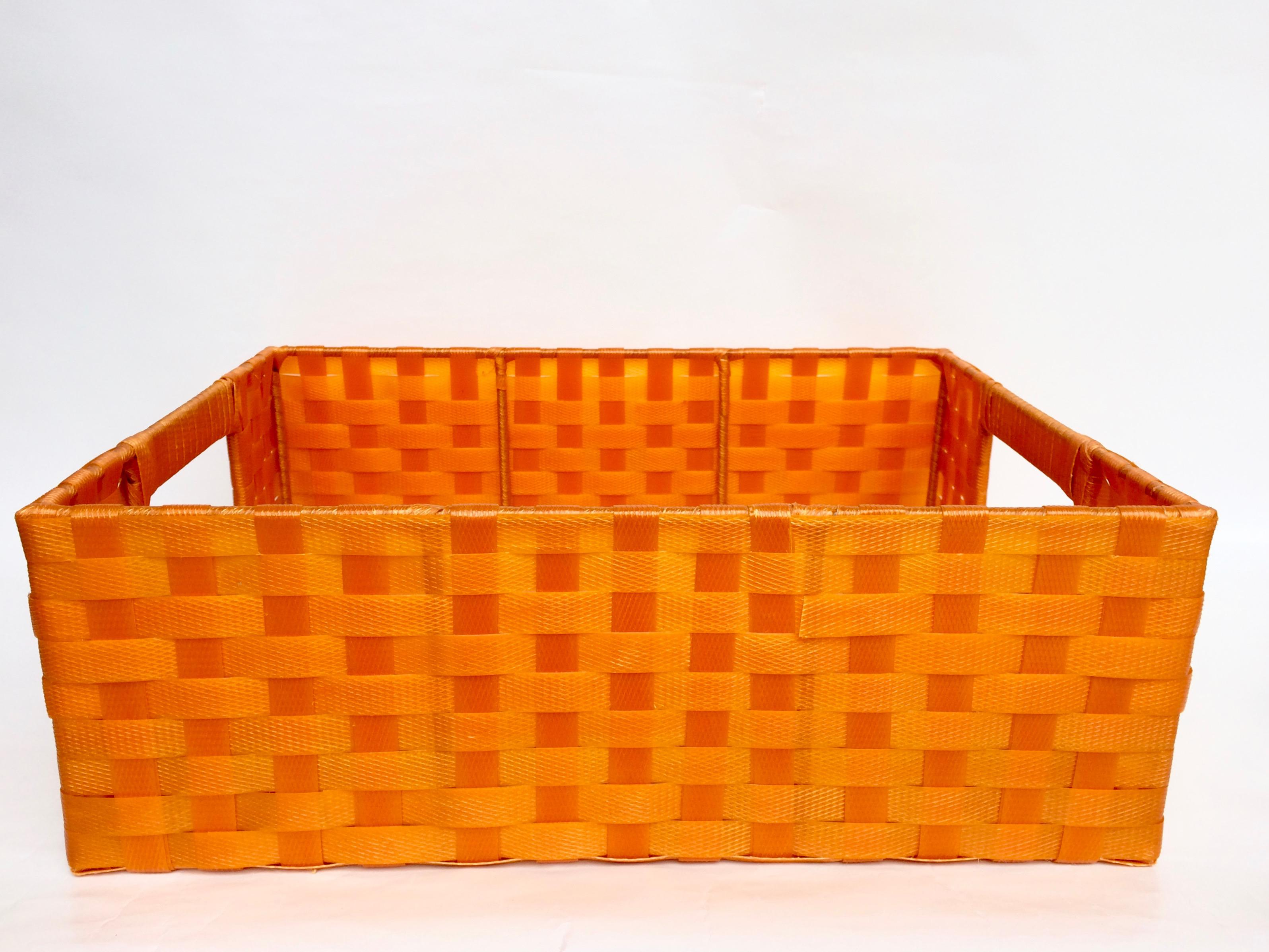 Vintage Woven Plastic Storage Baskets   Set Of 3   Image 8 Of 9