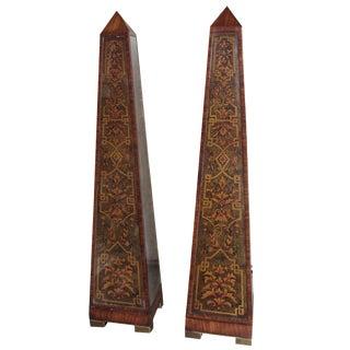 Italian Style Maitland-Smith Obelisks - A Pair
