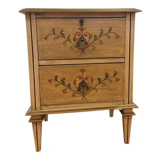 Small Shabby Chic Italian French Country Louis XVI Chest of Drawers End Table